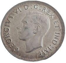 1936 CANADA SILVER DOLLAR GEORGEIVS VI G REX ET : IMP:, AU
