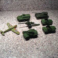 6 pc Dinky Toys Military Vintage Lot - plus Cragstan die cast Messerschmitt