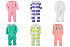 NWT Carters Baby Girl Footless PJ Coveralls Jumpsuit Sleep & Play Pajama Sleeper