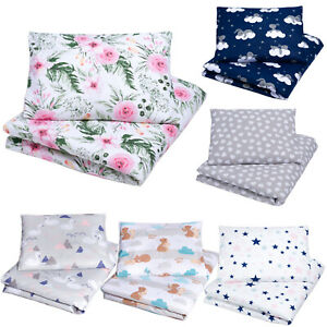 2 PIECE BABY BEDDING SET COT BED JUNIOR BED TODDLER DUVET COVER + PILLOWCASE NEW