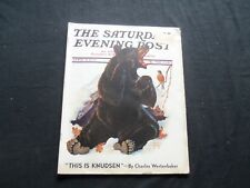 1937 APRIL 17 THE SATURDAY EVENING POST MAGAZINE - ILLUSTRATED COVER - SP 1689