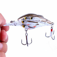 ABS Rattles Wobbler Crank Bait Fishing Lures Hooks Crankbait Tackle F0B4