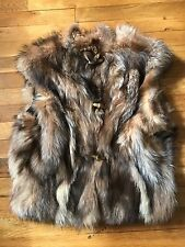 mink and fox vest