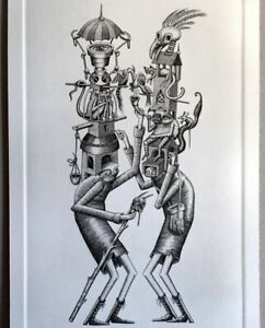 Customary Hats print by Phlegm signed embossed and numbered Fast Dispatch