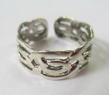 2pcs Sterling Silver Adjustable Toe Ring Celtic Design Solid 925 Jewelry