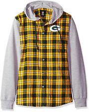 138c3aed Green Bay Packers Lightweight Flannel Hooded Jacket - Women's Small.