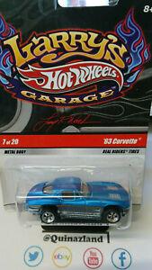 Hot Wheels Larry's Garage '63 Corvette bleu   (CP30)
