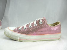 a9683b09eef Nice Used CONVERSE Chuck Taylor All Star Pink Sparkle Canvas Low Women s 6