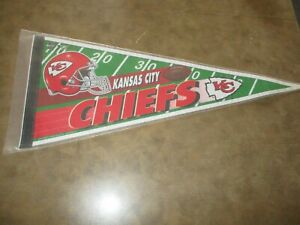 Vintage BANNER KANSAS CITY CHIEFS 30 INCHES LONG, SEALED!!!