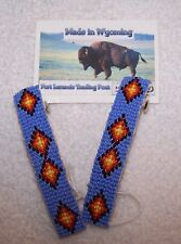 HAND MADE BEADED HAIR CLIP/BARRETTE SET RENDEZVOUS BLACK POWDER MOUNTAIN MAN 11