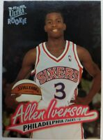 1996 96 ULTRA Allen Iverson Rookie RC #82, 76ers HOF Premium, The Answer !
