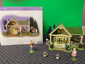 """Department 56 Easter Snow Village """"Lily's Nursery & Gifts"""" New in box"""
