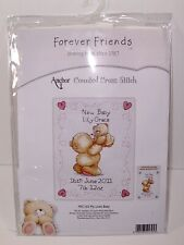 Anchor Cross Stitch Forever Friends FRC103 Little Baby Teddy Bear Birth Record