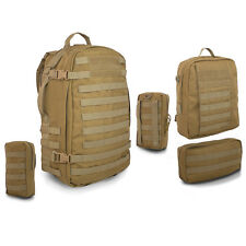 Bulldog Lycan Military Army MOLLE Rucksack Backpack Daysack Pack 55L Coyote Tan