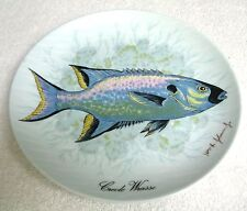 Kaiser Porcelain 7.25 Plate Ltd Edition Creole Wrasse Fish William R Johnson Jr