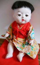 Vintage Japanese Ichimatsu Gofun boy  doll NEED TLC 10 1/2 inches
