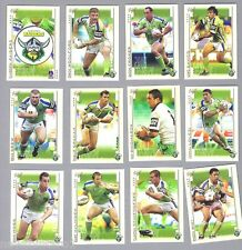TEN  SETS  OF  2003  CANBERRA  RAIDERS  RUGBY  LEAGUE  CARDS