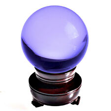 "4.2 in"" 110mm Purple Crystal Ball with Wooden Stand - TOP USA SELLER"