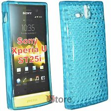 Cover Custodia Per Sony Xperia U ST25i Silicone Gel TPU Azzurro + Pellicola