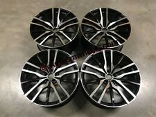 "22"" X5M X6M 742M Style Alloys Wheels Gloss Black Machined BMW F15 F16 F85 F86"