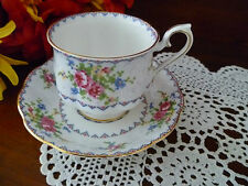 PRETTY  ROYAL ALBERT PETIT POINT TEA SIZE CUP & SAUCER MADE IN ENGLAND
