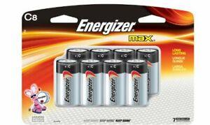 Energizer Max Alkaline C Batteries - 8 ct
