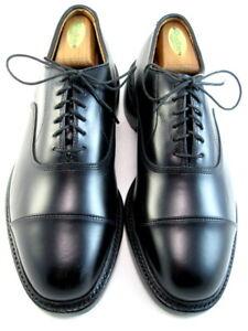 """NEW Allen Edmonds """"BINGHAM"""" Cap-Toe Men's Oxfords 7 EE Black Made USA (495)"""