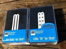 Seymour Duncan Hot Rails & Little 59 Strat Pickup Set WHITE SHR-1b SL59-1n