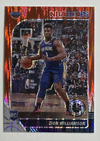 2019-20 Hoops Premium Stock Prizm Red Flash #258 Zion Williamson RC Rookie