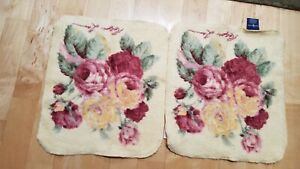 NWT 2 Ralph Lauren Yellow Floral Washcloths (2)