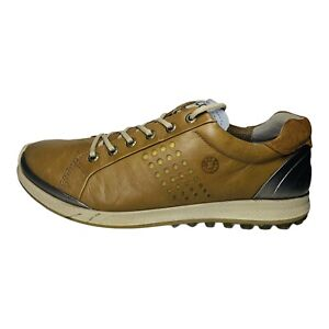 ECCO Yak Leather Biom Natural Motion Men's Golf Shoes Size EUR 42 US 8 - 8.5