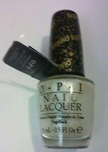 OPI NAIL LACQUER-SOLITAIRE   .5 FL. OZ.  SILVER/WHITE GLITTER NL M49 LIQUID SAND