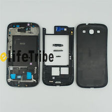 Full Housing Cover + Frame + Chassis for Samsung Galaxy S3 i9300 Black