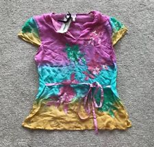 LADIES GALIBARDY SUMMER TOP. MULTICOLOURED. COTTON. Size M. RRP £35.