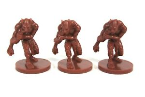 Dungeons & Dragons Castle Ravenloft Board Game 3x Miniature Ghoul Set Monster