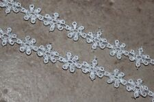 "Clearance 6 yards WHITE DAISY Venise baby doll sewing craft trim 1/2"" wide"