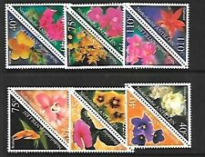 NETHERLANDS ANTILLES Sc 900a-910a NH ISSUE OF 1999 - FLOWERS