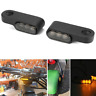 2pcs Mini Motorcycle Turn Signal Amber LED Indicators Blinker Lights Smoke Lens