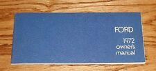Original 1972 Ford Full Size Car Owners Operators Manual 72 Fairlane Galaxie