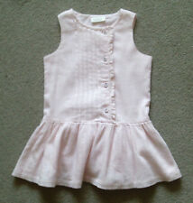 NEXT Adorable Baby Girls Pale Pink Dress 100% Cotton  age 9 - 12 Months