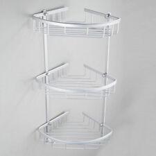 Bathroom Shelf Rack 3 Tier Metal Shower Corner Pole Bathroom Storage Organizer