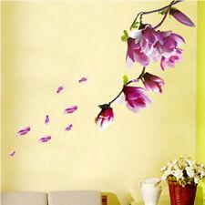 Nueva Moda Árbol De Magnolia Flores Pegatinas De Pared Mural de Arte Decoración de pared de fondo