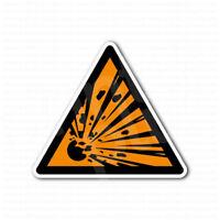 Danger Warning Explosive Sign Sticker