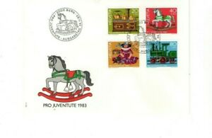 1983 SWITZERLAND - PRO JEVENTUTE : ANTIQUE TOYS FDC FROM COLLECTION 4/40