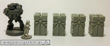 HC3D -NEW- 25mm Runic Pillars 4 pack - Wargames Alien Scenery