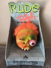 Vintage RUDE RALPH TOY Madball Style 1986 Axlon EYE PULL SOUNDS WORK! Gross Fun