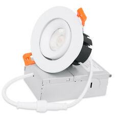 MingBright 3 Inch 7W LED Recessed Light Dimmable Downlight with JunctIon Box