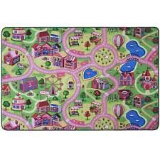 Kinderteppich Mädchen rosa Spielteppich Kinderzimmer Pink Babyteppich Märchen