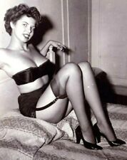 LE BOURGET 1950s PIN-UP SEAMED STOCKINGS~BLACK SILKY NYLON~MADE IN FRANCE~NEW~L