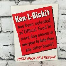 Vintage Ken-L-Biskit Large Folding Print Ad Dog Show Pedigree Advertising Paper